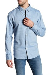Grayers Paxton Printed Twill Shirt Blue