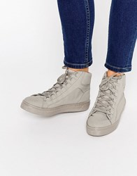 Asos Down Load High Top Trainers Grey