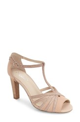 Seychelles Women's Lap T Strap Pump Nude Leather
