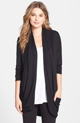 Fleurt 'Lounge With Me' Cocoon Cardigan Black