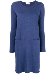 Allude Midi Knitted Dress Blue
