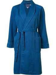 Blue Blue Japan Shawl Collar Coat Blue