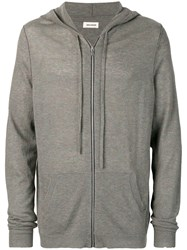 Zadig And Voltaire Clash Cashmere Hoodie Grey