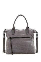 Abro Zip Pocket Suede Leather Tote
