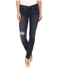 Blank Nyc Dark Denim Distressed Skinny In Junk Drawers Blue Women's Jeans