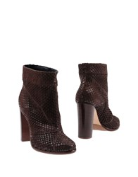 Anna F. Ankle Boots Dark Brown