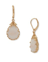 Lonna And Lilly Semi Precious Reconstituted Stone Pear Drop Earrings White
