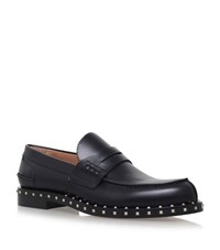 Valentino Rockstud Penny Loafers Male Black