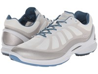 Ecco Biom Fjuel Racer Silver Metallic Shark White Petrol Men's Lace Up Casual Shoes