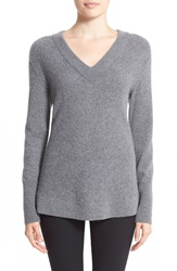 Rag And Bone 'Alexis' V Neck Cashmere Tunic Sweater Charcoal