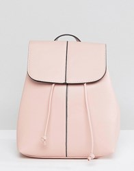 Pieces Clean Backpack With Drawstring Rose Dust Pink