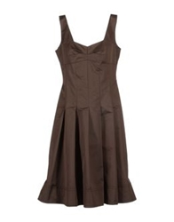 Laurel 3 4 Length Dresses Dark Brown