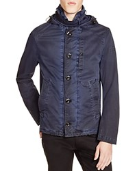 G Star G Star Garger Short Hooded Trench Coat Imperial Blu Maz.