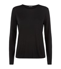 Eileen Fisher Long Sleeve T Shirt Female Black