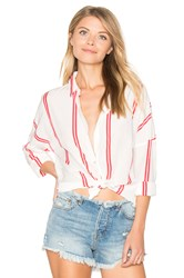 Maison Scotch Loose Fitted Shirt White