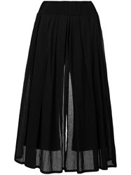 Lost And Found Rooms Panelled Wide Leg Trousers Black