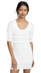 Torn By Ronny Kobo Colby Dress White