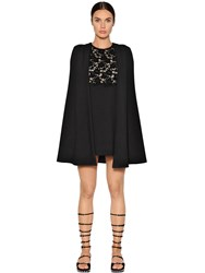 Giambattista Valli Macrame Lace And Crepe Dress With Cape