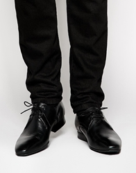 H By Hudson Leather Derby Shoes Black