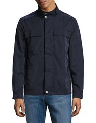 Brooks Brothers Zip Front Utility Jacket Navy