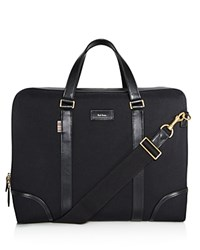 Paul Smith Canvas And Leather Detail Briefcase Black