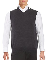 Black Brown Merino Wool Sweater Vest Winter Slate