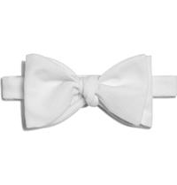 Turnbull And Asser Cotton Pique Bow Tie White