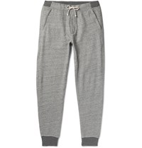 J.Crew Classic Tapered Fleece Back Cotton Blend Jersey Sweatpants Gray