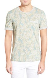 Men's Ted Baker London 'Rootz' Floral Print Pocket T Shirt