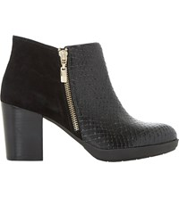 Dune Quince Ankle Boots Black Reptile