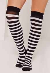Missguided Over The Knee Socks Stripe Black