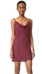 Amanda Uprichard Bowie Slip Dress Wine