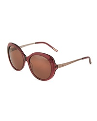Nina Ricci Flower Detail Round Acetate Sunglasses Purple