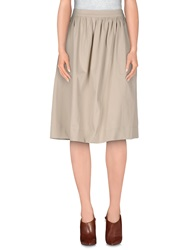 Selected Femme Knee Length Skirts Beige