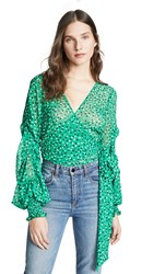 C Meo Collective Loyalties Top Green Ditsy Floral