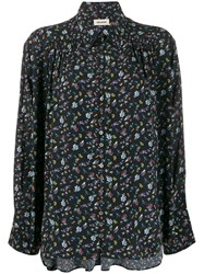 Zadig And Voltaire Floral Print Blouse Black