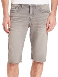 True Religion Geno Overdyed Active Big T Shorts Charcoal