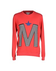 Macchia J Topwear Sweatshirts Men Red