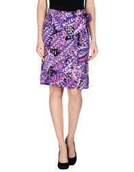 Fabrizio Lenzi Knee Length Skirts Purple
