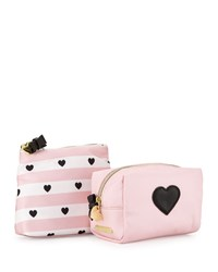 Betsey Johnson Away We Go Two Piece Cosmetic Bag Set Blush