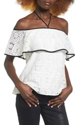 Wayf Women's Evelyn Off The Shoulder Lace Top