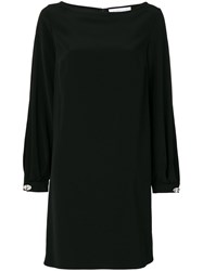 Gianluca Capannolo Studded Cuff Dress Women Polyester Triacetate 44 Black