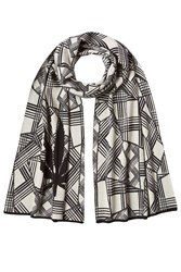 Lucien Pellat Finet Printed Cotton Scarf With Cashmere White