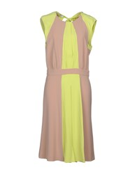 Caractere Knee Length Dresses Acid Green