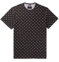 Marc Jacobs Oversized Studded Rainbow Print Cotton Jersey T Shirt Black