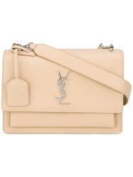 Saint Laurent Small 'Sunset Monogram' Satchel Nude Neutrals
