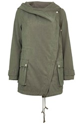 Brushed Waterfall Hooded Jacket By Rare Green