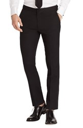 Bonobos Men's Flat Front Stretch Wool Tuxedo Trousers Black