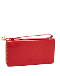 Tusk Smartphone Leather Wristlet Wallet Red