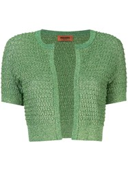 Missoni Small Cardigan In Lurex Green